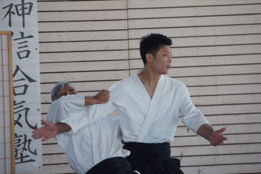 Waka Sensei throws Stefano De Carlo with Kokyu Nage